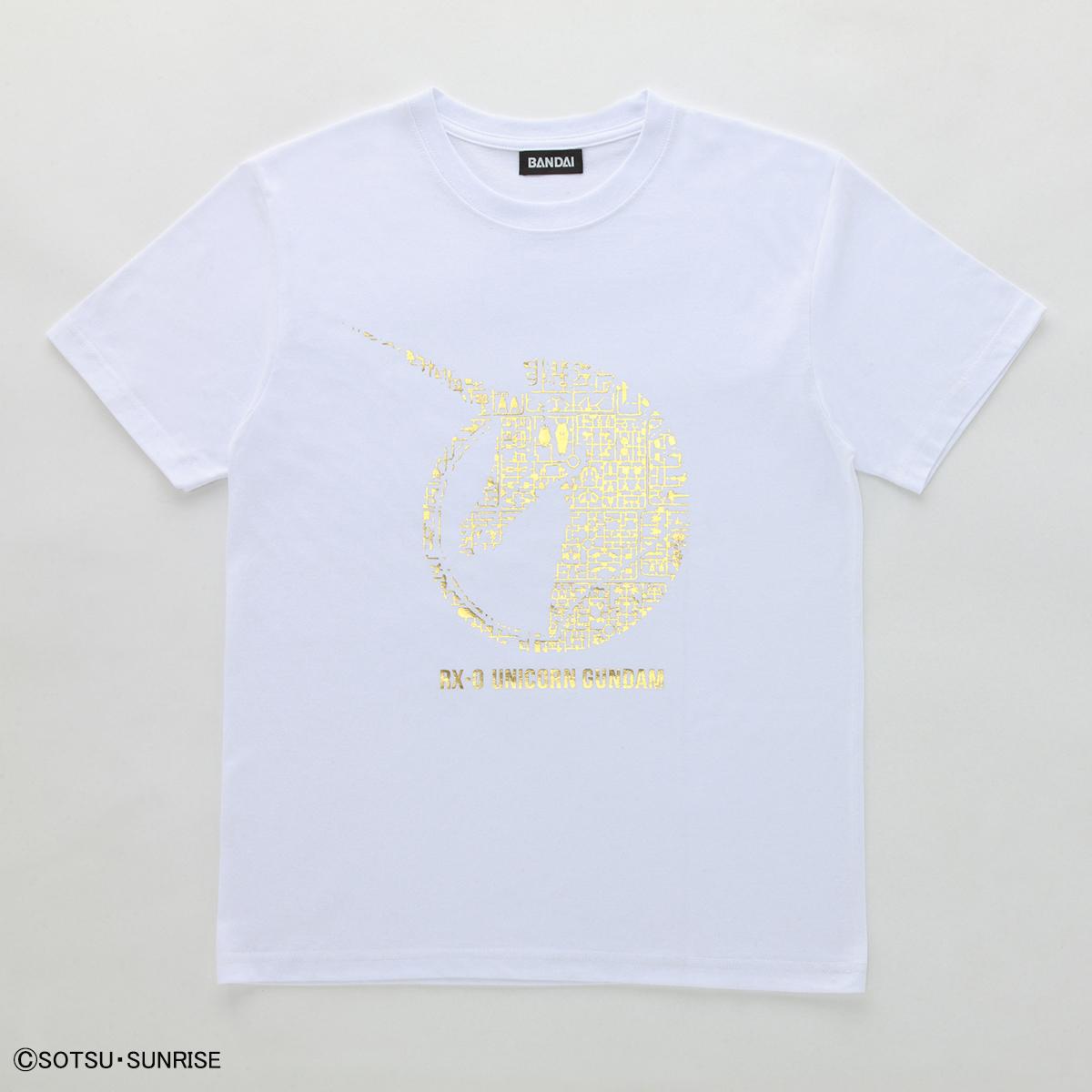機動戦士ガンダムユニコーン ガンプラ ランナー Tシャツ  RX-0 ユニコーン白金 商品画像
