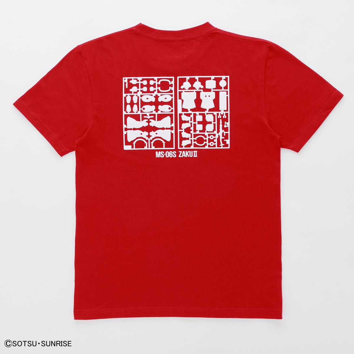 機動戦士ガンダム ガンプラ ランナー Tシャツ MS-06S シャアザク 赤白 商品画像