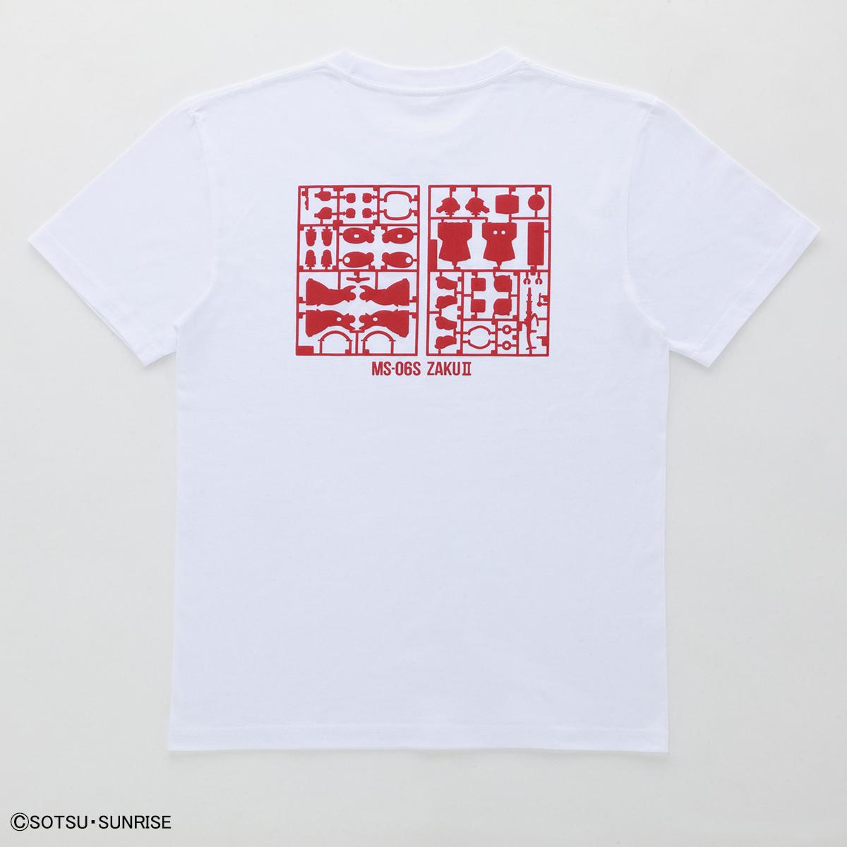 機動戦士ガンダム ガンプラ ランナー Tシャツ MS-06S シャアザク 白赤 商品画像