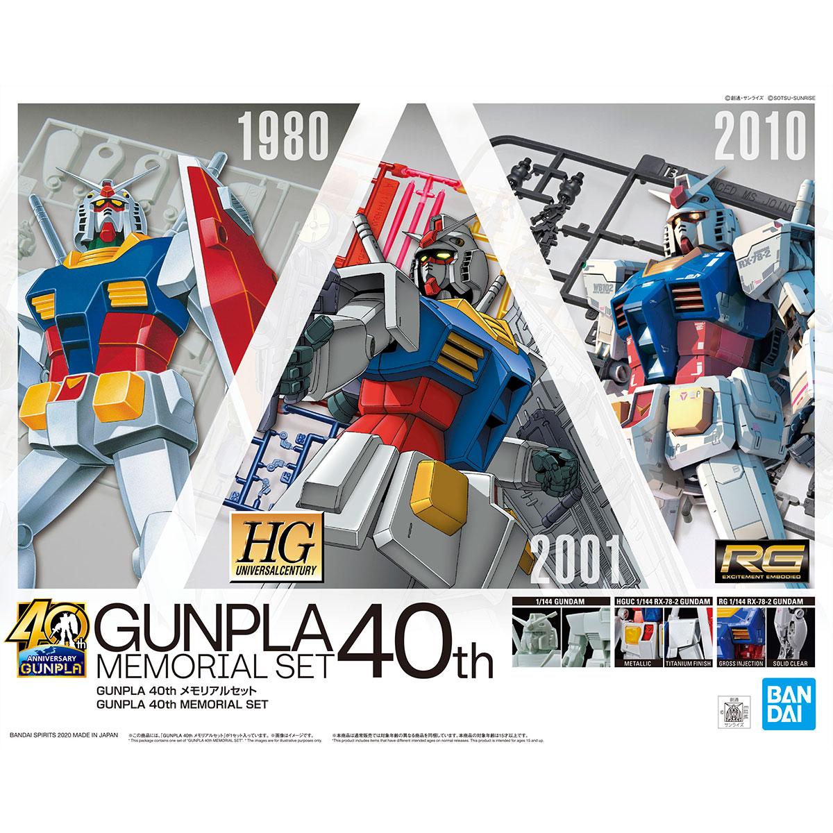 GUNPLA 40th メモリアルセット 商品画像