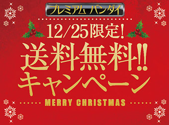 【1日限定】プレミアムバンダイ 送料無料キャンペーン、お申込みは12月25日(火)23時まで!