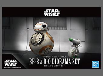 開発ブログ更新!2体のドロイドの競演!1/12 BB-8 & D-O ジオラマセットのご紹介