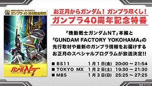 【2021年お正月】「ガンプラ40周年記念特番」放送決定!