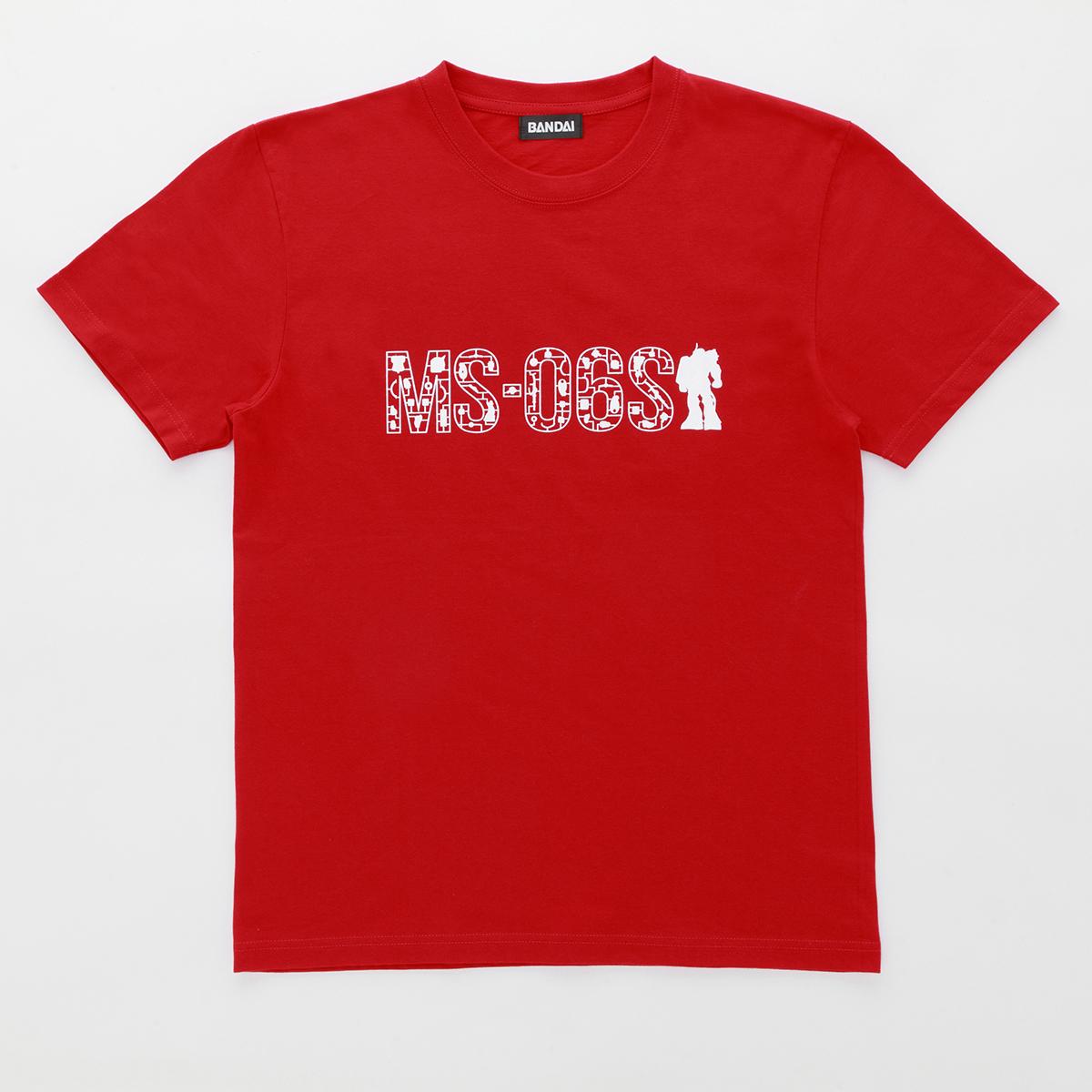 機動戦士ガンダム ガンプラ ランナー Tシャツ MS-06S シャアザク 赤白
