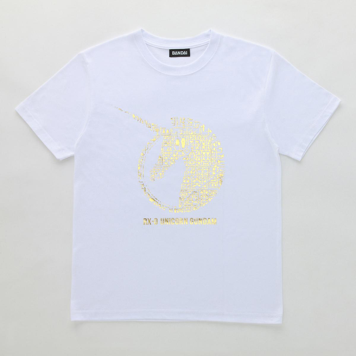 機動戦士ガンダムユニコーン ガンプラ ランナー Tシャツ  RX-0 ユニコーン白金